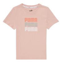 vaatteet Tytöt Lyhythihainen t-paita Puma ALPHA TEE Vaaleanpunainen