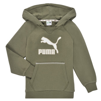 vaatteet Pojat Svetari Puma T4C HOODIE Khaki