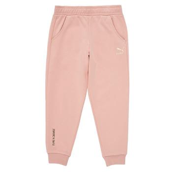 vaatteet Tytöt Verryttelyhousut Puma T4C SWEATPANT Vaaleanpunainen