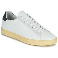 kengät Miehet Matalavartiset tennarit Clae BRADLEY CALIFORNIA Valkoinen / Sininen
