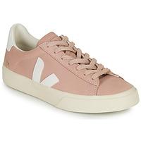 kengät Naiset Matalavartiset tennarit Veja CAMPO Vaaleanpunainen / Valkoinen