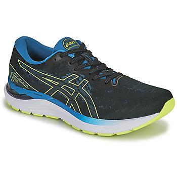 kengät Miehet Juoksukengät / Trail-kengät Asics GEL-CUMULUS 23 Musta / Sininen / Keltainen