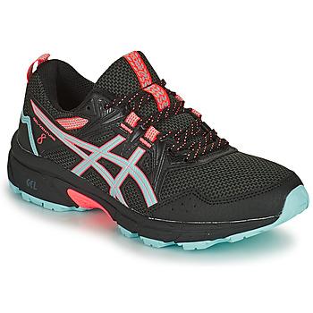 kengät Naiset Juoksukengät / Trail-kengät Asics GEL-VENTURE 8 Musta / Sininen