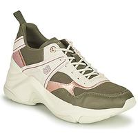 kengät Naiset Matalavartiset tennarit Tommy Hilfiger FASHION WEDGE SNEAKER Vihreä / Vaaleanpunainen