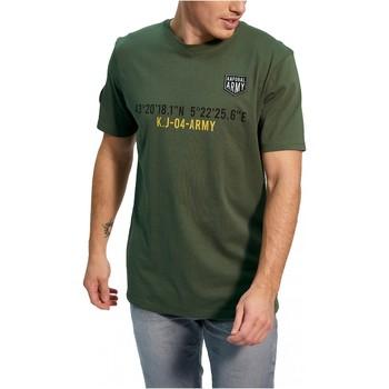 vaatteet Miehet Lyhythihainen t-paita Kaporal TEFAR Vihreä