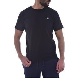 vaatteet Miehet Lyhythihainen t-paita Sergio Tacchini 103.10007-SS T-SHIRT ICONIC Musta