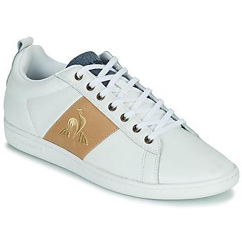 kengät Miehet Matalavartiset tennarit Le Coq Sportif COURTCLASSIC Valkoinen