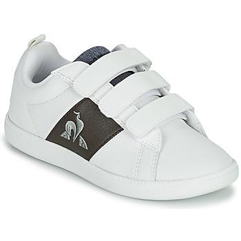 kengät Lapset Matalavartiset tennarit Le Coq Sportif COURTCLASSIC PS Valkoinen / Ruskea