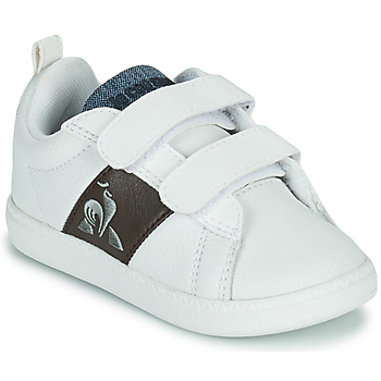 kengät Lapset Matalavartiset tennarit Le Coq Sportif COURTCLASSIC INF Valkoinen / Ruskea