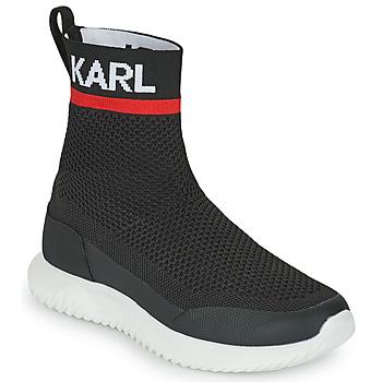 kengät Pojat Korkeavartiset tennarit Karl Lagerfeld PELINDRA Musta