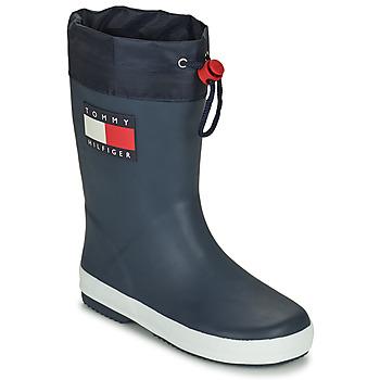 kengät Lapset Kumisaappaat Tommy Hilfiger T3X6-30766-0047800 Laivastonsininen