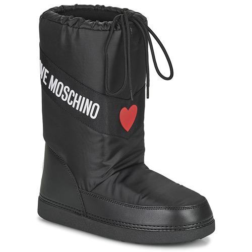 kengät Naiset Talvisaappaat Love Moschino JA24032G1D Musta