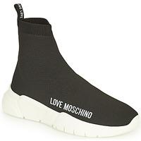 kengät Naiset Korkeavartiset tennarit Love Moschino JA15343G1D Musta