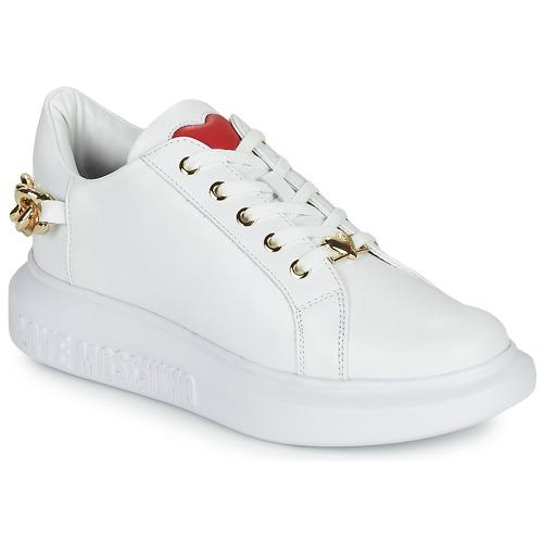 kengät Naiset Matalavartiset tennarit Love Moschino JA15144G1D Valkoinen