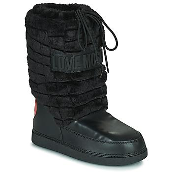 kengät Naiset Talvisaappaat Love Moschino JA24232G0D Musta