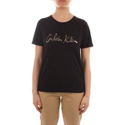 vaatteet Naiset Lyhythihainen t-paita Calvin Klein Jeans K20K202870 BLACK