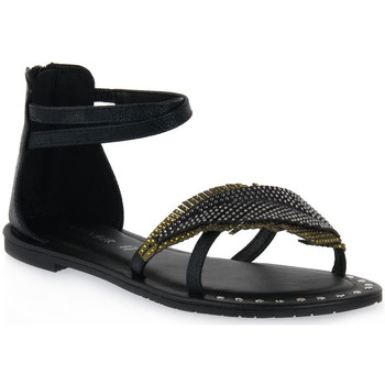 kengät Naiset Sandaalit ja avokkaat Café Noir CAFE NOIR N007 SANDALO ASIMMETRICO Nero