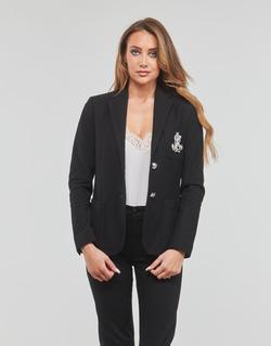 vaatteet Naiset Takit / Bleiserit Lauren Ralph Lauren ANFISA-LINED-JACKET Musta