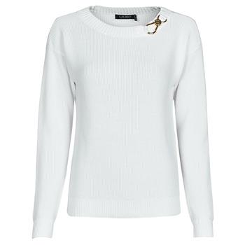 vaatteet Naiset Neulepusero Lauren Ralph Lauren YAMINAH-LONG SLEEVE-SWEATER Valkoinen