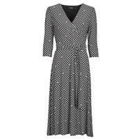 vaatteet Naiset Pitkä mekko Lauren Ralph Lauren CARLYNA-3/4 SLEEVE-DAY DRESS Musta