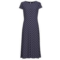 vaatteet Naiset Pitkä mekko Lauren Ralph Lauren PIPPA-CAP SLEEVE-DAY DRESS Sininen
