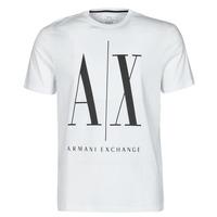vaatteet Miehet Lyhythihainen t-paita Armani Exchange HULO Valkoinen