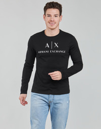 vaatteet Miehet T-paidat pitkillä hihoilla Armani Exchange 8NZTCH Musta
