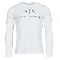 vaatteet Miehet T-paidat pitkillä hihoilla Armani Exchange 8NZTCH Valkoinen