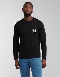 vaatteet Miehet T-paidat pitkillä hihoilla Armani Exchange 8NZTPL Musta