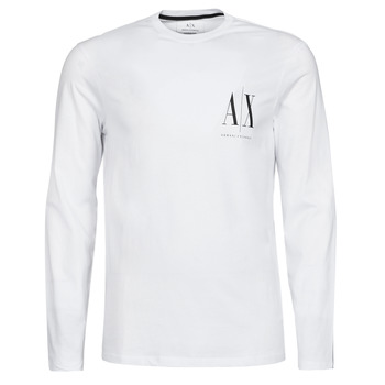 vaatteet Miehet T-paidat pitkillä hihoilla Armani Exchange 8NZTPL Valkoinen