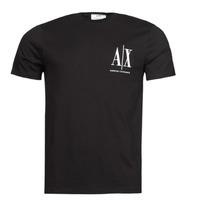 vaatteet Miehet Lyhythihainen t-paita Armani Exchange 8NZTPH Musta