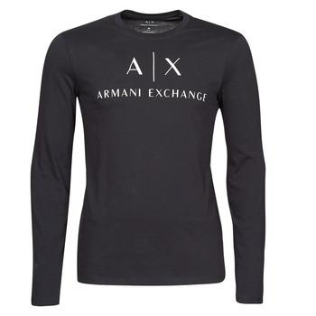 vaatteet Miehet T-paidat pitkillä hihoilla Armani Exchange 8NZTCH Laivastonsininen