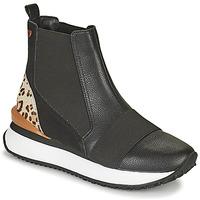 kengät Naiset Korkeavartiset tennarit Gioseppo LUNNER Musta / Leopardi