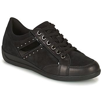 kengät Naiset Matalavartiset tennarit Geox MYRIA Musta