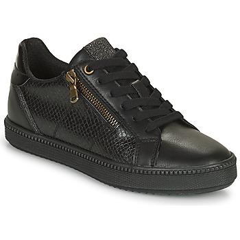 kengät Naiset Matalavartiset tennarit Geox BLOMIEE Musta