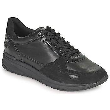 kengät Naiset Matalavartiset tennarit Geox AIRELL Musta