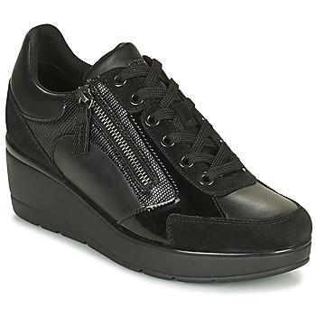 kengät Naiset Matalavartiset tennarit Geox ILDE Musta
