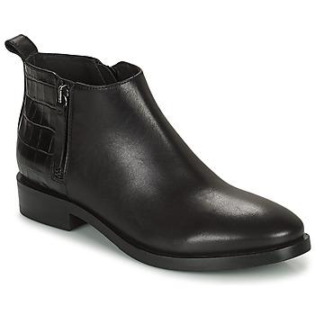 kengät Naiset Nilkkurit Geox BROGUE Musta