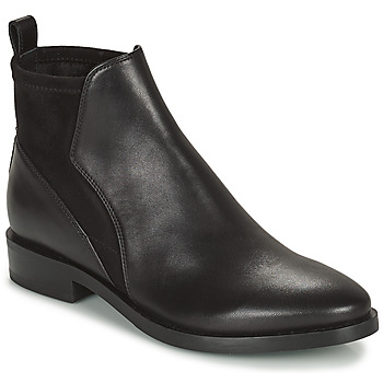 kengät Naiset Bootsit Geox DONNA BROGUE Musta