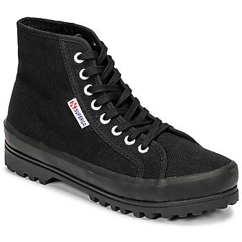 kengät Naiset Korkeavartiset tennarit Superga 2341 ALPINA COTU Musta