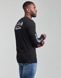 vaatteet Miehet T-paidat pitkillä hihoilla Diesel T-DIEGOS-LS-K25 Musta