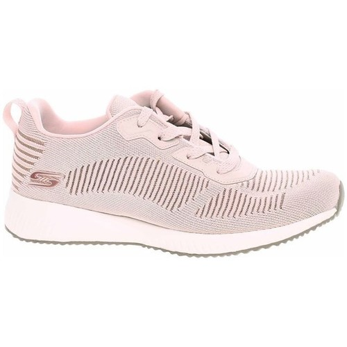 kengät Naiset Matalavartiset tennarit Skechers Bobs Squad Vaaleanpunaiset