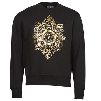 vaatteet Miehet Svetari Versace Jeans Couture VEMBLEM LEAF Musta / Kulta