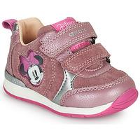 kengät Tytöt Matalavartiset tennarit Geox RISHO Vaaleanpunainen
