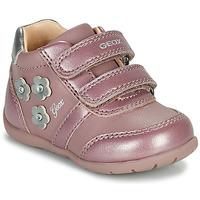 kengät Tytöt Matalavartiset tennarit Geox ELTHAN Vaaleanpunainen
