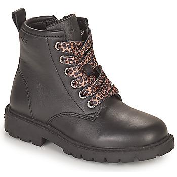 kengät Tytöt Bootsit Geox SHAYLAX Musta