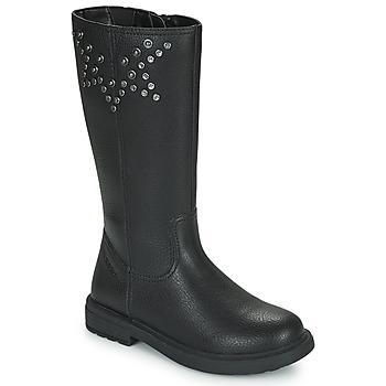 kengät Tytöt Saappaat Geox ECLAIR Musta