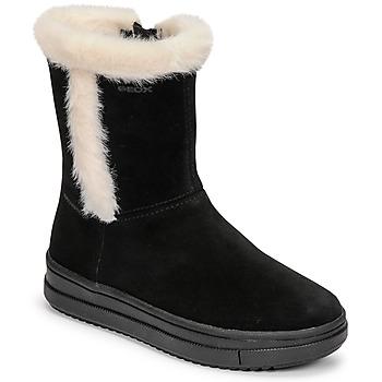 kengät Tytöt Saappaat Geox REBECCA Musta / Valkoinen