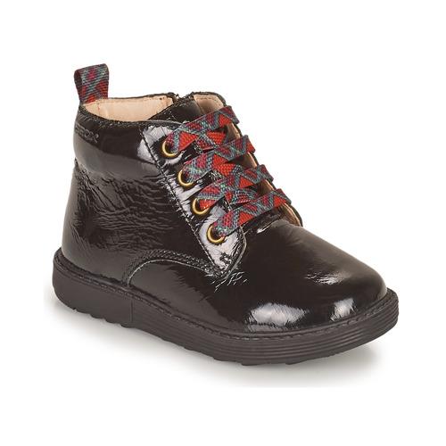 kengät Tytöt Bootsit Geox HYNDE Musta