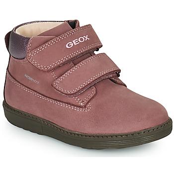 kengät Tytöt Bootsit Geox HYNDE WPF Vaaleanpunainen